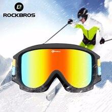 ROCKBROS Skiing Goggles Double-Layer Anti Fog Snowboard Glasses Eyewear TPU Frame Goggles Sunglasses Child Boys UV Glasses