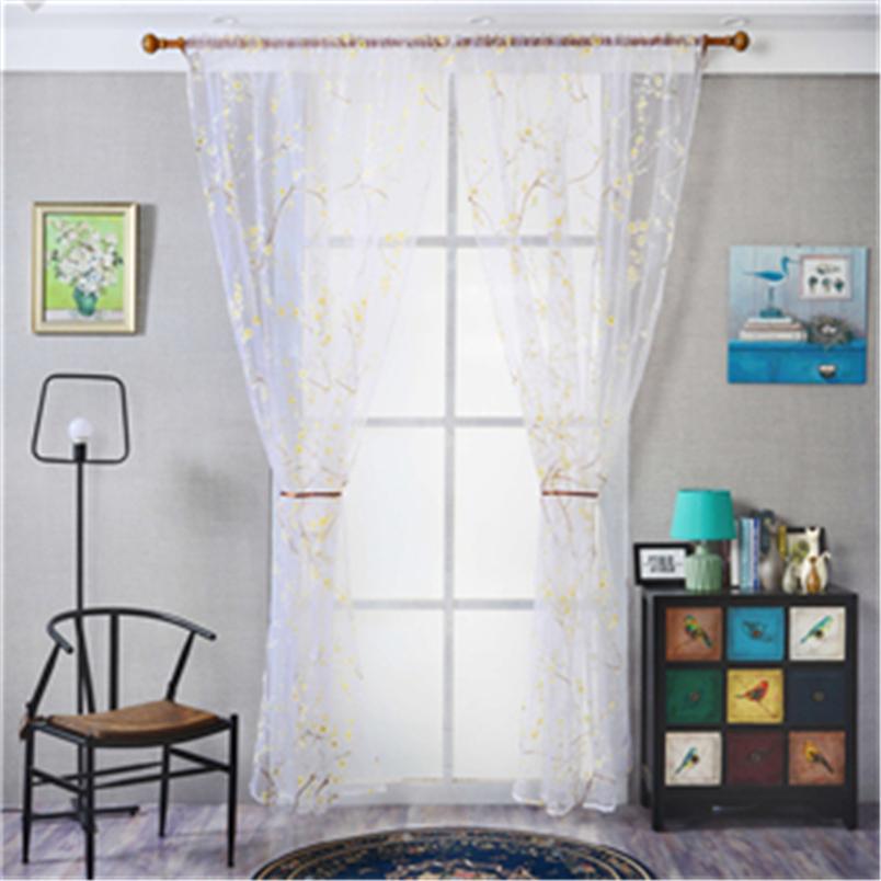 ouneed tul cortinas para el dormitorio color slido de la manera de celosa ventana cortinas cortina