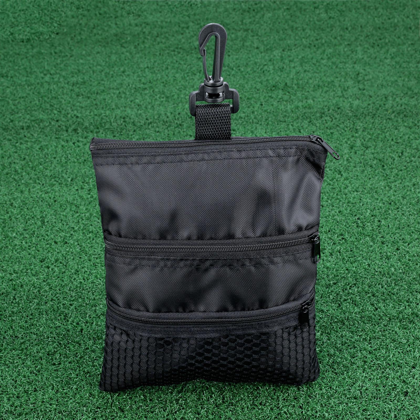 Canvas 1 Pc Mesh Mini Golf Ball Bag Pouch Golf Tees Holder Multi-Pocket Zipper Handbag Bag Storage Case Training Practice Tool