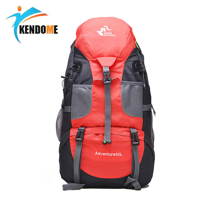 Limited Hot 50L Large Waterproof Climbing Hiking Backpack Rain Cover Bag Camping Mountaineering Backpack Sports Outdoor Bike Bag