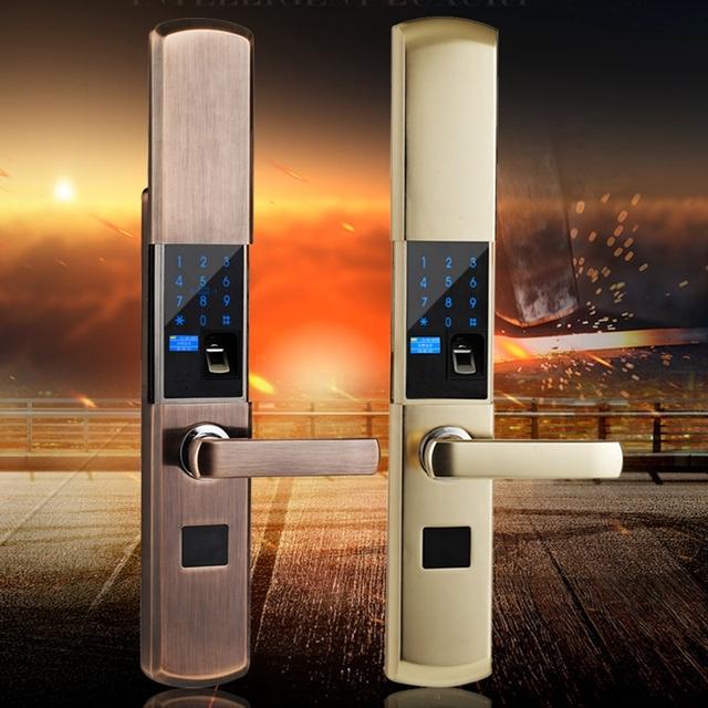 Digital Semicondu Fingerprint Smart Lock Biometric Fingerprint Electronic Door Lock Automatic For Home With Password Card Unlock