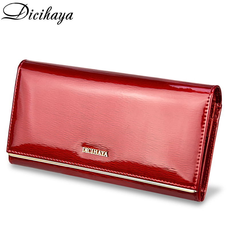 DICIHAYA Womens Wallets Brand Purses Female Long European And American Style Genuine Leather Designer Wallet Coin Purse Ladies