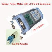 Herramienta de fibra óptica - 70 ~ + 10 dBm medidor de potencia óptica con LC conector SC FC