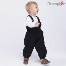 Harvey&Bo new baby/kids spring and autumn  overalls waterproof windproof girls boys cotton-padded trousers children pants 2-4Y