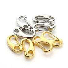 10pcs/lot 21*11mm Zinc Alloy Gold/Rhodium Color Lobster clasp Hooks for Necklace Chain and Bracelets DIY jewelry Making F3106(China)