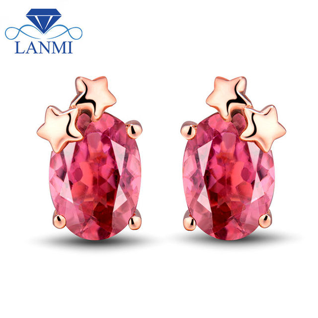 rubelite tourmaline post rubellite earrings pink products stone and sizes gold stud
