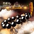 5 tamaño de la marca famosa Pulsera hombres mano sobre transferencia de riqueza natural de Obsidiana Arco Iris cuentas de joyas de cristal de regalo novio
