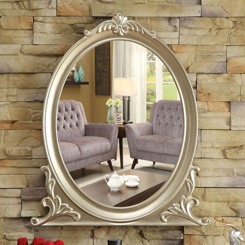 How To Put Up A Bathroom Mirror: Free Shipping Makeup Mirror European Design,Make Up Wall