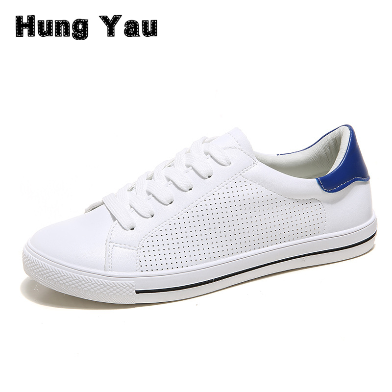 Hung Yau Women Casual Shoes New Summer Style Breathable Shoes Sneaker Zapatos Mujer Light Female Leisure Women Loafers Size US 8 new brand black white vintage women footwear lace up casual oxford flat shoes woman british style breathable zapatos mujer