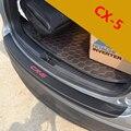 ¡ Venta caliente! PU de cuero De fibra de Carbono tira de fricción Después de la guardia de espalda cubiertas Para mazda CX-5 2014 2015 CX5