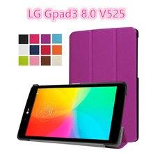 """Para LG Gpad G pad 3 8.0 V525 8 """"Tablet Ultra Delgado Custer Folio PU Cubierta de Cuero Del Caso para LG Gpad 3 V525 concha protectora"""