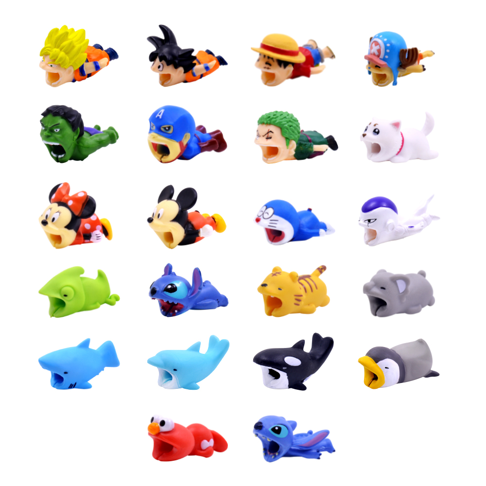 CHIPAL Cable Cute Bite Animal Cable Protector For Iphone Usb Cable Organizer Chompers Charger Wire Holder For Iphone Cable