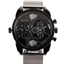 Hombres Relojes de Primeras Marcas de Lujo de Cuarzo Relojes de Moda Diseño casual Oulm Relojes de Los Hombres reloj de Cuarzo de Acero Completo