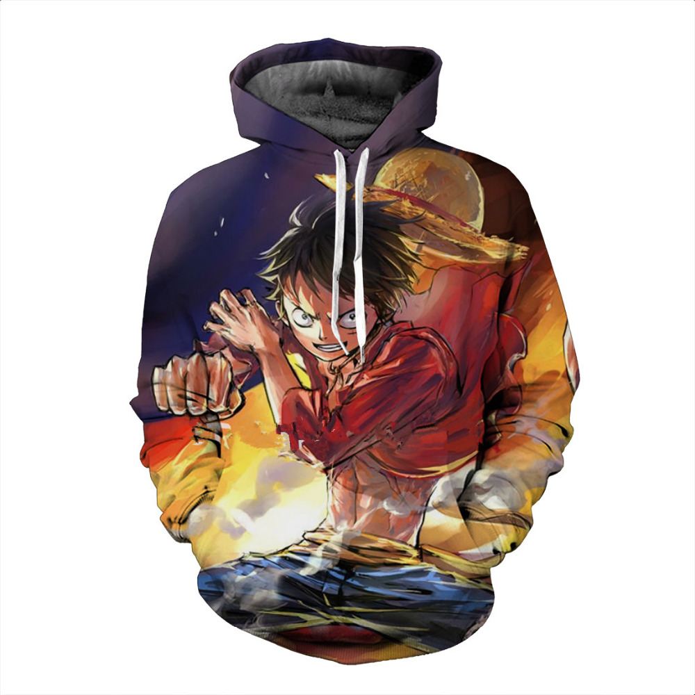 New One Piece 3d Print Sweatshirt Hoodies Pullovers Men Women Outerwear Hip Hop Hoodie Naruto Uzumaki