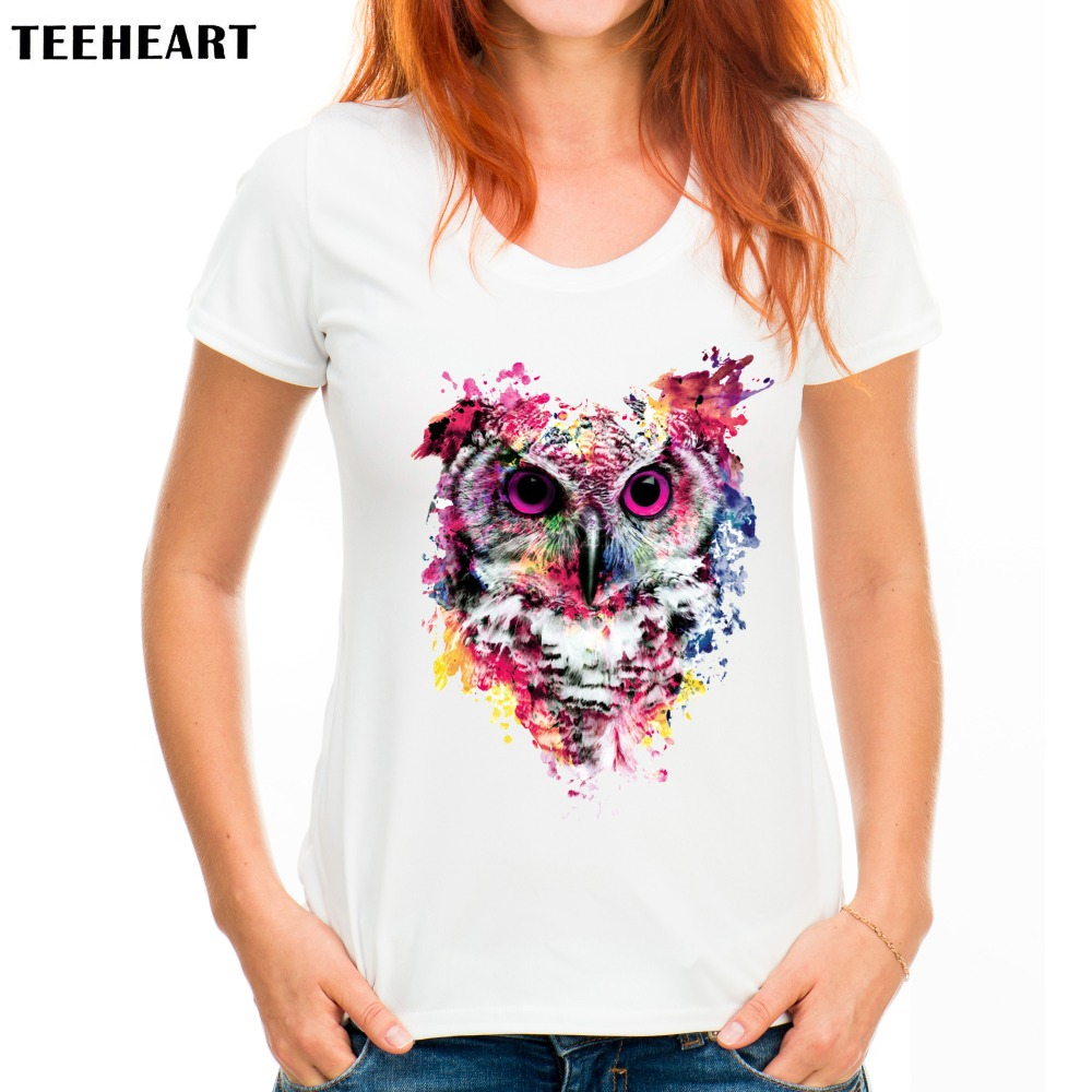 2017 new women fashion wild animal colorful art design t for T shirt design 2017