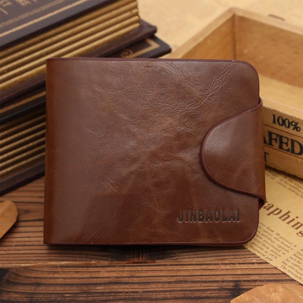 Fashion Mens Genuine Leather Short Wallets Coin Cash Pocket Purses Gift Men ID Card Holder Bifold Male Purse Money Bag Carteira