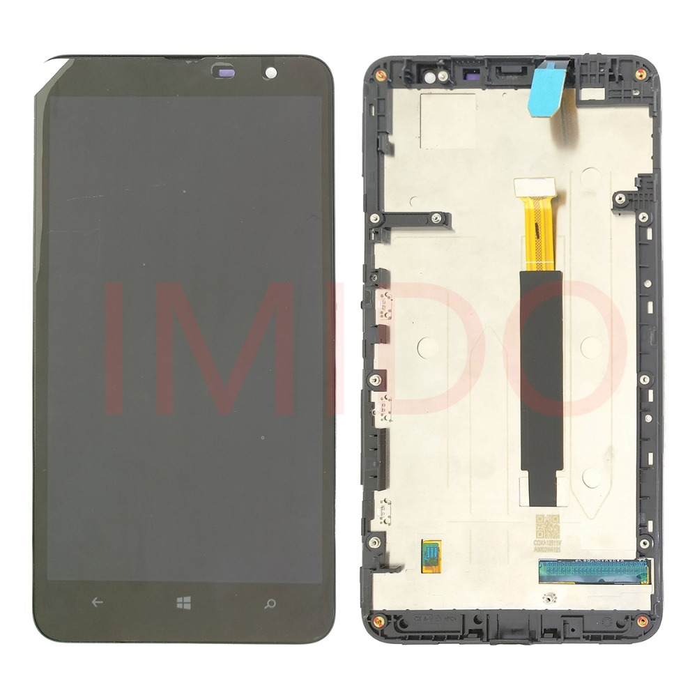 For <font><b>Nokia</b></font> Lumia <font><b>1320</b></font> RM-996 LCD Display+Touch Screen Digitizer Assembly+Frame Replacement <font><b>Parts</b></font> image