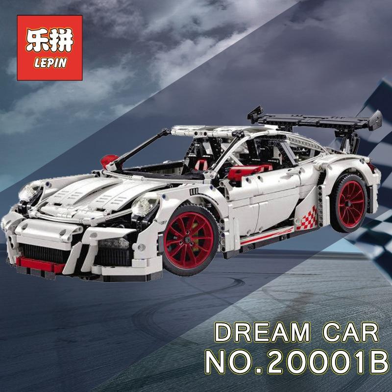 Lepin Technique 20001 voiture de course Ensemble 20086 23006 23002 Modèle blocs de construction Briques Compatible Legoing Technique 42056 d'anniversaire Jouets - 3