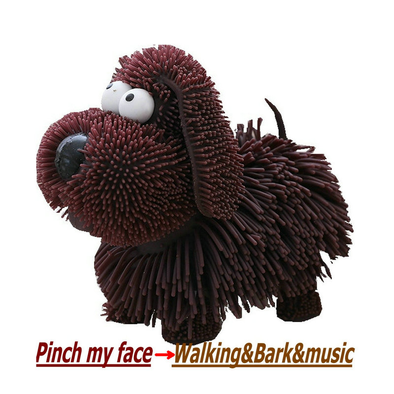 vedio reference Electric bark Dog squishy Toy Stuffed Walking electronic talking music Dod dog Aniaml Toys for children Kid toys bark stop bark control collar for dogs 1 4lr44