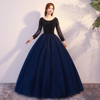 Luxury Sequins Quinceanera Gowns Elegant Bling Bling Girl Long Sleeve Ball Gown Debutante Dress For 15 Open Back Sexy Dresses