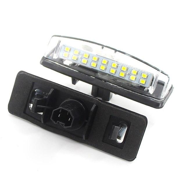 Ampoule lumineuse Canbus pour Mitsubishi Colt plus Grandis 12V   2 pièces, plaque dimmatriculation de permis, blanc