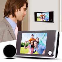 3,5 pulgadas LCD Color pantalla Digital timbre puerta 120 grados ojo timbre electrónico mirilla puerta Cámara visor puerta exterior campana