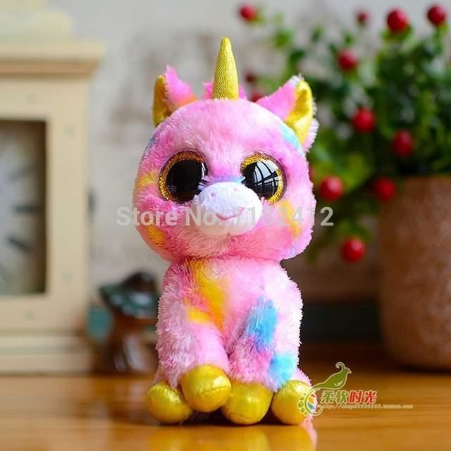 placeholder Ty Beanie Boo Fantasia Unicorn Plush Animals Toy 6   15CM Cute  Big Eyes Stuffed 0b837fc94a84