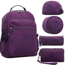 Casual School Backpack for Teenage Girl Women School Nylon Backpack Mochila  Escolar Travel Bag Rucksack Large 468733881f