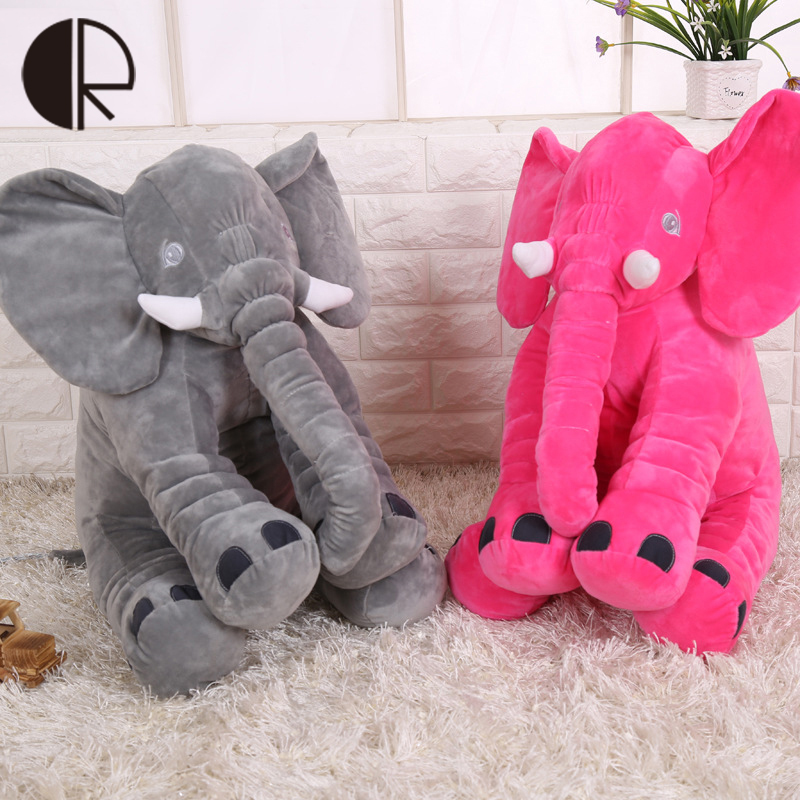 Colorful Giant Elephant Plush Toy Baby Sleeping Pillow