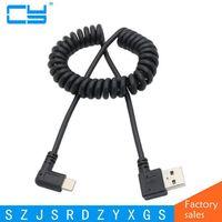 1 м USB 2.0 Мужской 90 градусов слева и справа под углом к USB-C 3.1 Тип-C выдвигающейся весна данных Chager синхронизации кабель-удлинитель для S8 P10