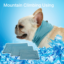 Летняя охлаждающая бандана для питомцев, шарф для собак с холодным льдом, летнее полотенце для бульдога, летнее полотенце для собак