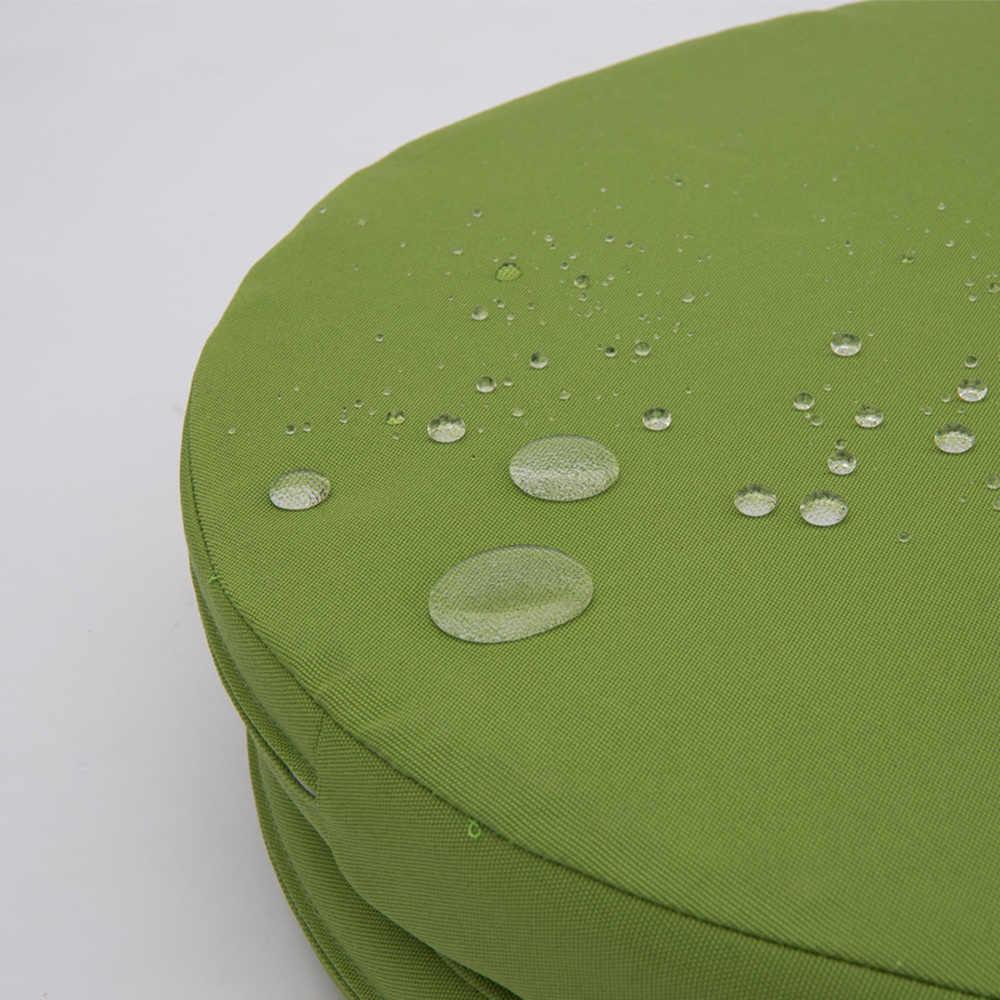 Açık/kapalı yuvarlak su geçirmez mobilya yastık dolgu ile yedek derin koltuk minderi veranda sandalye tezgah 45cm