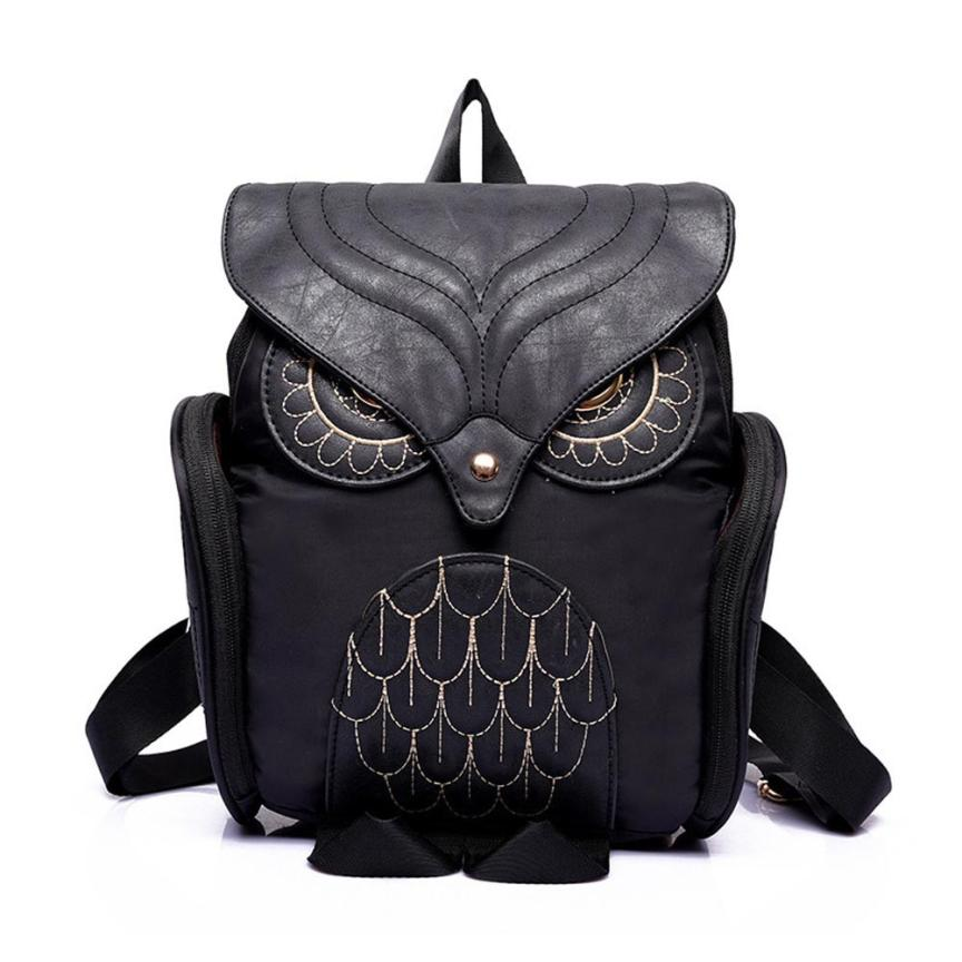 Women Owl Backpack Women's Leather backpack Feminina School Bag mochila feminina 2017 New Brand Design Rucksack#LR3L
