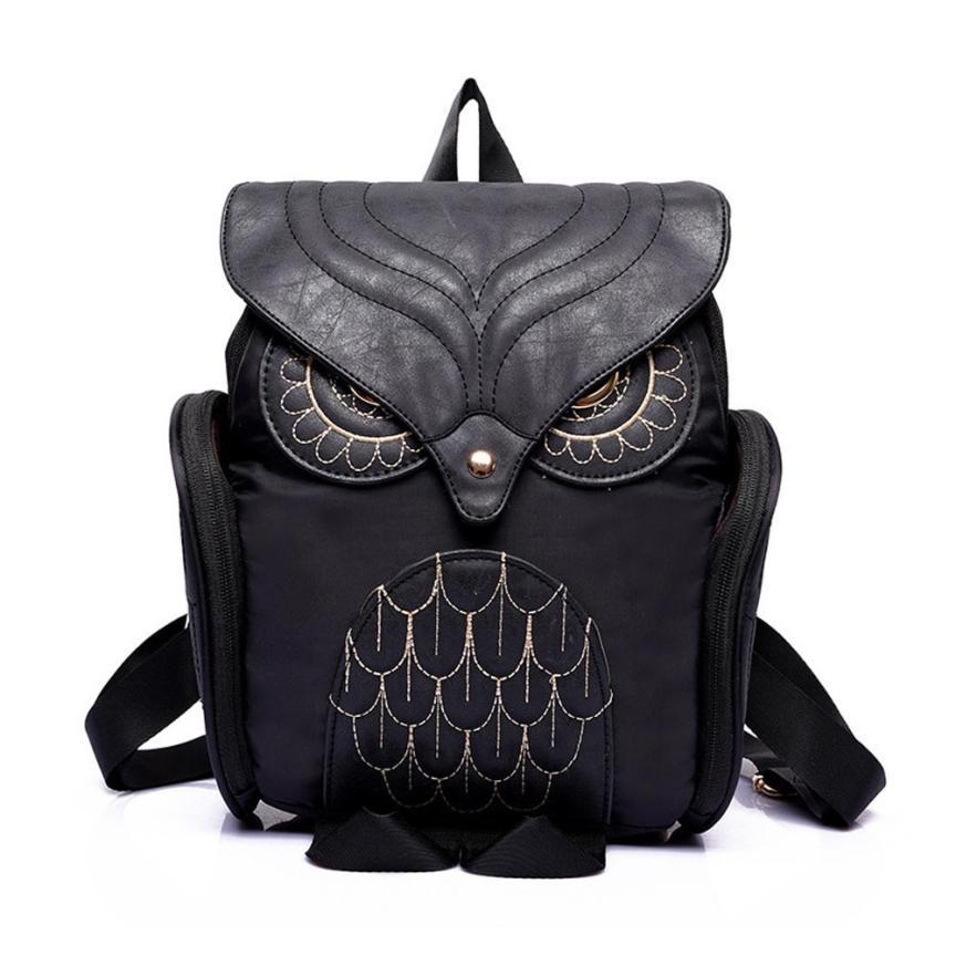 Women Owl Backpack Women's Leather backpack Feminina School Bag mochila feminina 2017 New Brand Design Rucksack#LR3L