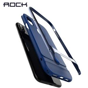 Image 3 - IPhone x için kılıf, kaya Royce hibrid malzeme PC + TPU galvanik kapak kılıf iPhone x için