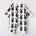 Romper do bebê roupa interior de algodão recém-nascidos 100% outono e inverno inverno romper sleepwear 0 masculino 3
