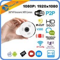 HD FishEye IP Camera Wi Fi 1080P 360 Degree Mini WiFi Camera 2 0MP Network Home