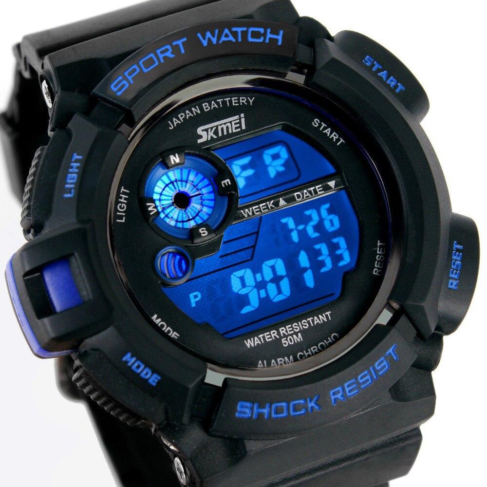 Watch font b Men b font SKMEI Brand Fashion Casual Digital watch G Style Sport Waterproof