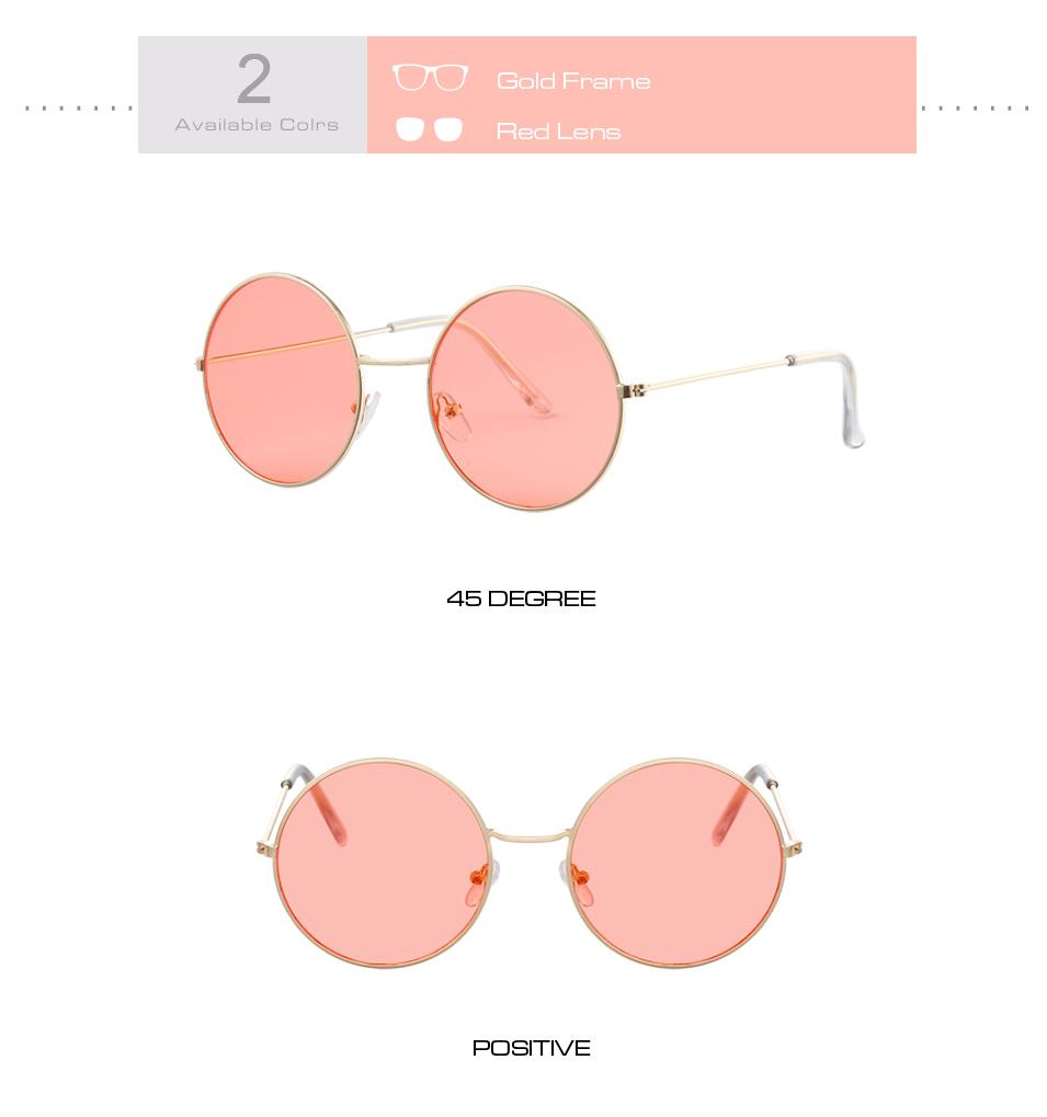 Women's Round Mirror Sunglasses 11