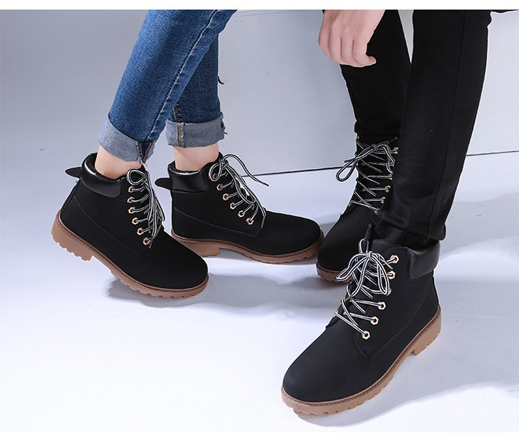 autumn Plush Snow Boots Women Wedges Knee-high Slip-resistant Boots Thermal Female Cotton-padded Shoes Warm Size G2W 23