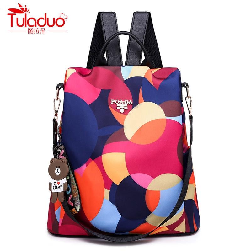 Fashion Anti-theft Women Backpacks Multifunction Ladies Large Capacity Backpacks High Quality Waterproof Oxford Female Backpacks