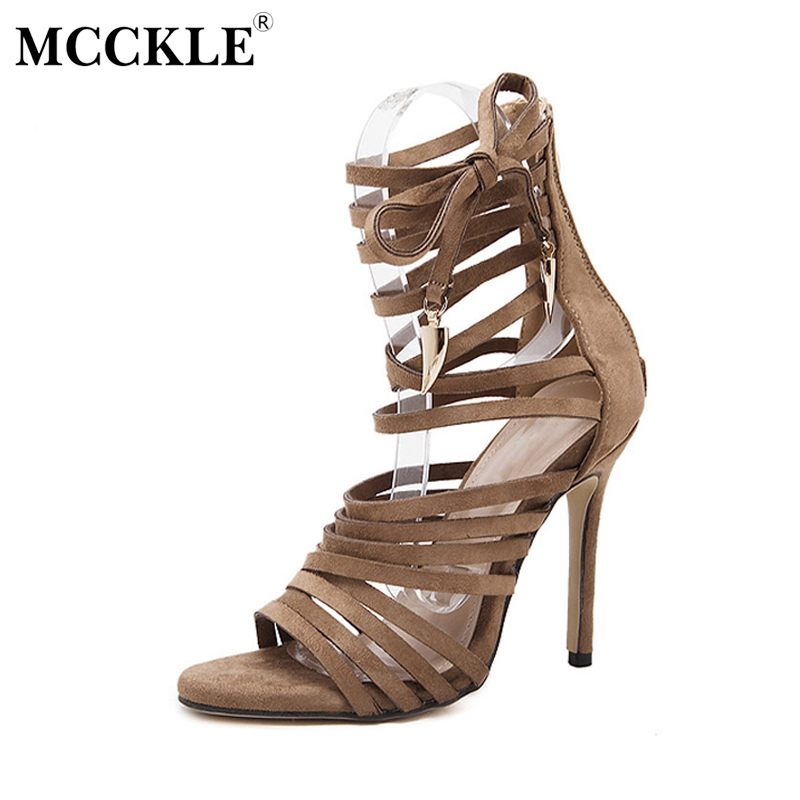 MCCKLE 2017 Fashion Women Shoes Sandals Gladiator Woman Black Zipper Lace-up Open Toe Ladies Sexy Casual Comfortable mcckle 2017 fashion woman shoes flat women platform round toe lace up ladies office black casual comfortable spring