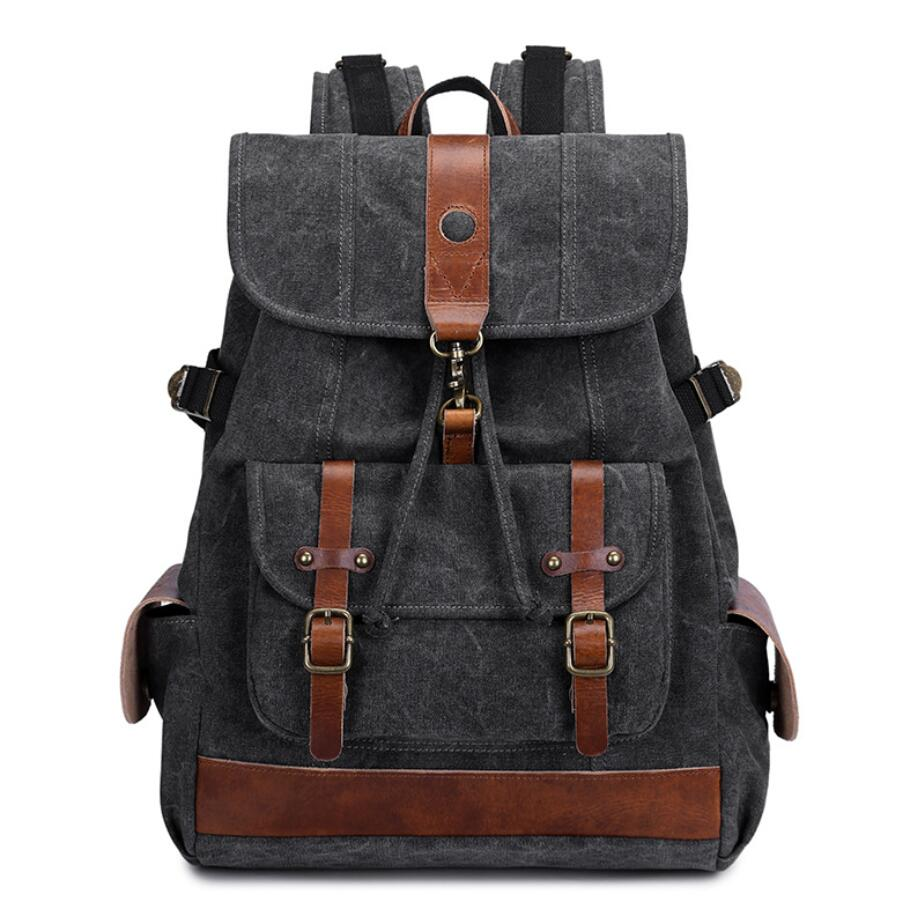 Unisex Korea Canvas Backpack Vintage Outdoor Casual Travel Rucksack Fashion Man/Women Large Capacity Student Laptop Schoolbag