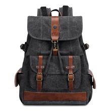 Unisex Korea Canvas Backpack Vintage Outdoor Casual Travel Rucksack Fashion Man/Women Large Capacity Student Laptop Schoolbag