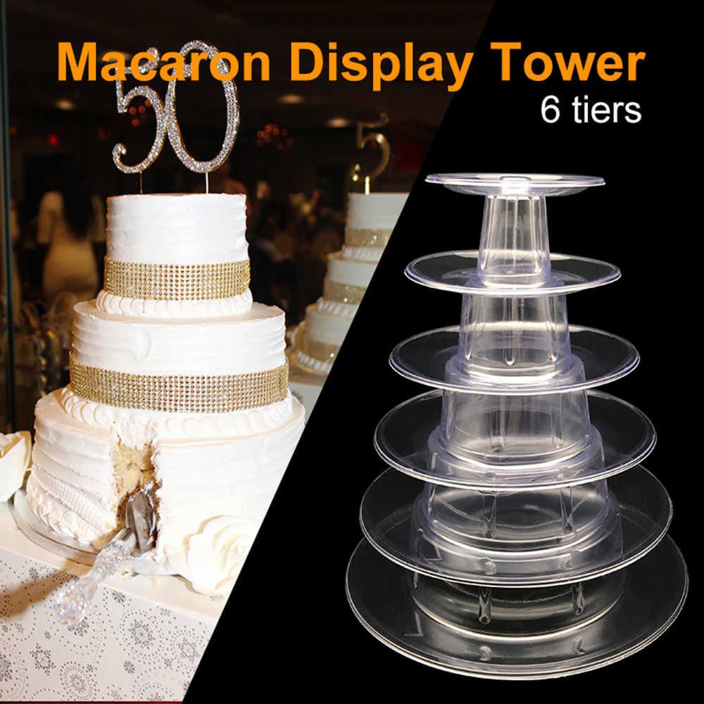 4/6 ชั้นทาวเวอร์ Macaron เค้กคัพเค้ก Macaroons ชั้นวางเค้กเครื่องมือตกแต่งอีสเตอร์คริสต์มาสวันเกิด Party