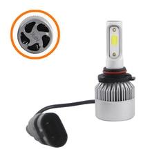 SHUOKE LED Headlight Bulbs 2 Side COB Chip 12V 30W 45W 2.8A 15W Per Chip 6000K 1900Lm Per Lamp Built-in Driver 9005 9006 1 Pair цена