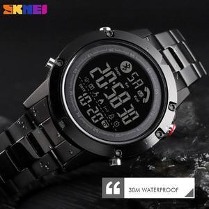 Image 2 - SKMEI montre connectée avec podomètre, calories, horloge dactivité physique, numérique, moniteur de fréquence cardiaque et de sommeil, Bluetooth montre pour hommes