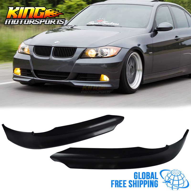 Fit 2005 2006 2007 2008 BMW E90 325 328 330 335 OE Style PP Front Bumper Lip Spoiler Body kits Global Free Shipping Worldwide