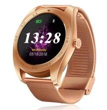 Neue Smart Uhr K89 1,22 Zoll IPS Runde Touchscreen Unterstützung Herzfrequenz Bluetooth Smartwatch Für Apple IOS Android Smartphone