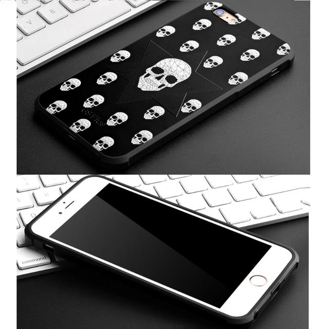 SOFT TPU SKULL IPHONE CASE